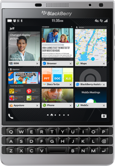 BlackBerry Passport Silver Edition Resimleri