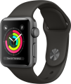Apple Watch Series 3 GPS (38 mm) Uzay Grisi Alüminyum Kasa ve Gri Spor Kordon