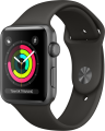 Apple Watch Series 3 GPS (42 mm) Uzay Grisi Alüminyum Kasa ve Gri Spor Kordon